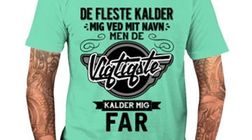 Nu finder du de super sjove og fede t-shirts med tekst på vores webshop!