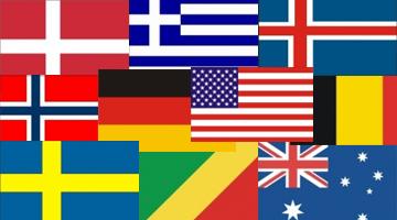 europæiske lande i farver