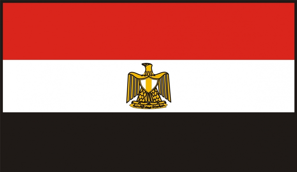 Egypten flag 90 x 150 cm