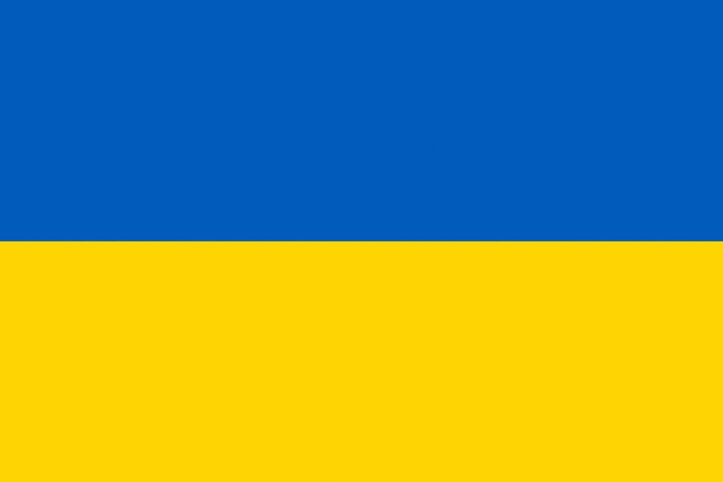 blåt og gult flag
