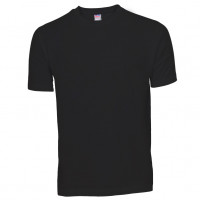 Basis Cotton t-shirt sort (black)