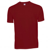 Basis Cotton t-shirt burgundy