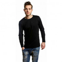 Mens Tee LS T-shirt sort (black)