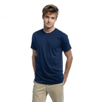 Mens Fitted T-shirt Navyblå (Blue navy)