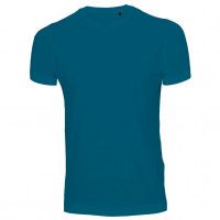 Uni Fashion V-Neck T-shirt Petroleum
