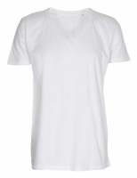 Mens Tee Deep V-Neck T-shirt hvid (white)