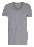Mens Tee Deep V-Neck T-shirt Oxford grå ( Oxford grey)
