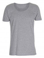 Mens Tee Deep Cut T-shirt Oxford grå ( Oxford grey)