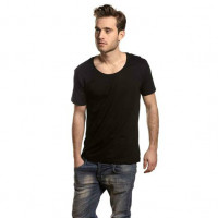 Mens Tee Deep Cut T-shirt sort (black)