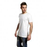 Mens Tee W/Placket T-shirt med knapper hvid (white)