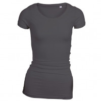 Long Stretch T-shirt sort (black)