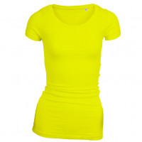 Long Stretch T-shirt Lys gul (light yellow)