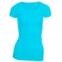 Long Stretch T-shirt turkis (turquoise)