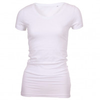 Long Stretch V-Neck T-shirt hvid (white)