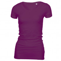 Long Stretch V-Neck T-shirt lilla (violet)