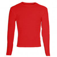 One By One LS T-shirt Varm rød (warm red)