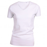 Lady Cotton T-shirt V-neck hvid (white)