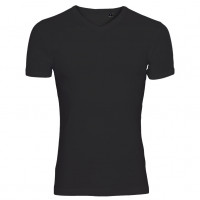 One By One V-neck T-shirt sort (black)