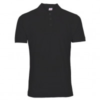Uni Polo T-shirt sort (black)