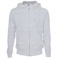 Hooded Zip Sweat Hættetrøje Oxford grå ( Oxford grey)