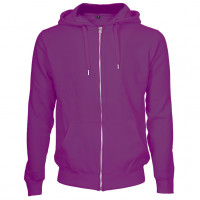 Hooded Zip Sweat Hættetrøje lilla (violet)