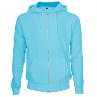 Hooded Zip Sweat Hættetrøje Lys turkis (light turquoise)