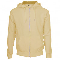 Hooded Zip Sweat Hættetrøje sandfarvet (sand)