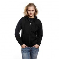 Bargain Hooded Zip Sweat Hættetrøje sort (black)