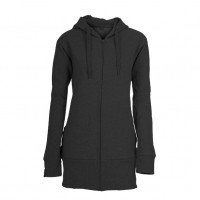 Hooded Zip Lady Hættetrøje sort (black)