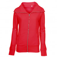 Lady Zip Sweat Sweatshirt rød (red)