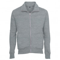Mens Zip Sweat Sweatshirt Oxford grå ( Oxford grey)