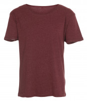 RAW tee i heather burgundy