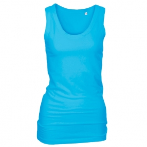Long Stretch Top Lys turkis (light turquoise)