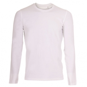 Mens Stretch LS T-shirt hvid (white)