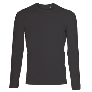 Mens Stretch LS T-shirt sort (black)