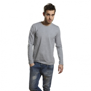 Mens Stretch LS T-shirt Oxford grå ( Oxford grey)