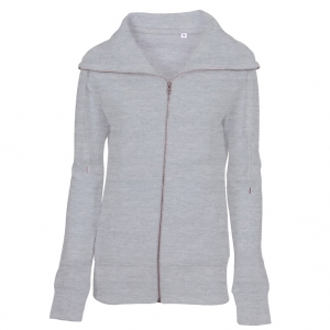 Lady Zip Sweat Sweatshirt Oxford grå ( Oxford grey)