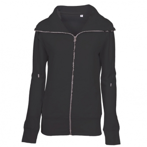 Lady Zip Sweat Sweatshirt sort (black)